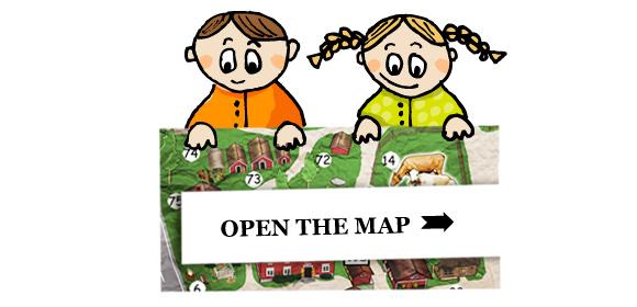 Avaa tästä Eläinpuiston ja Museokylän kartta